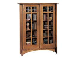 Stickley Mission Leather Sofa by Stickley Oak Mission Classics Double Glass Door Bookcase With 8