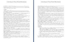 Agreement Templates Business Contract Template