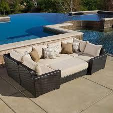 Kirkland Brand Patio Furniture by Endura 6 Piece Modular Seating Set