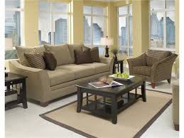 Craftmaster Sofa In Emotion Beige by Klaussner Posen Contemporary Sofa With Block Feet Old Brick