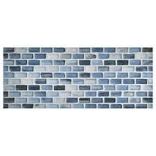 zumi glass tile 1 2 x 1 mini brick mosaic delft blue silk