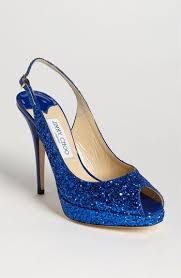Something Sparkly & Blue Jimmy Choo Clue Slingback Pump