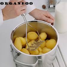 presse cuisine 1 pcs gadget de cuisine en acier inoxydable presse purée presse
