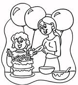 Mother Helping Her Son With Homework Coloring Page