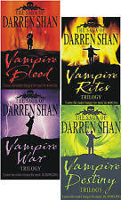 Darren Shan The Saga Of Vampire Trilogy Collection 4 Books Set Blood UK