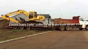 Tandem Axle Truck Pulling Electric Brake Trailer Info - YouTube
