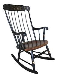 L. Hitchcock Black Maple Harvest Boston Style Windsor Rocking Chair