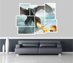 riesige collage ansicht märchen drachen wandsticker