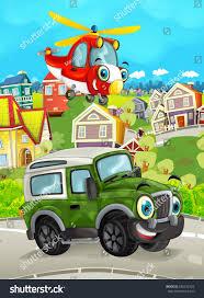 Cartoon Funny Looking Off Road Truck Stock Illustration 690372934 ...