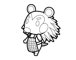 Animal Crossing Coloring Pages 4