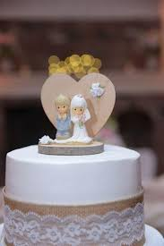 Precious Moments Rustic Wedding Cake Topper Collectibles Very Small Wilton Baking Time Mini Doll How To Make Homemade Cakes From Scratch Anniversary Sheet