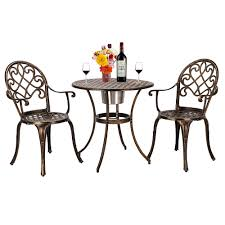 European Style Cast Aluminum Outdoor 3 Piece Patio Bistro ... Outdoor Chairs Set Of 2 Black Cast Alinum Patio Ding Swivel Arm Chair New Elisabeth Cast Alinum Outdoor Patio 9pc Set 8ding Details About Oakland Living Victoria Aged Marumi In 2019 Armchair Cologne Set Gold Palm Tree Outdoor Chairs Theradmmycom Allinum Fniture A Guide Alinium Rst Brands Astoria Club With Lawn Garden Stools Bar Modway