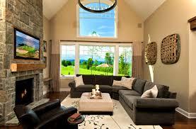 bedroom lovely black trim tan walls living room transitional