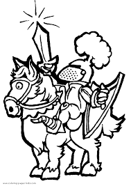 Knights Coloring Pages Free Medieval Royalty
