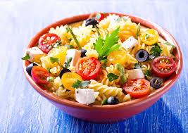 recette salade de pâtes aux tomates cerises et olives noires
