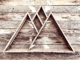 Mountain Range Triangle Shelf Pallet Wood Reclaimed Art Geometric Rustic Home Decor