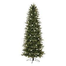 7ft Pre Lit Pencil Christmas Tree by Shop Ge 7 5 Ft Pre Lit Aspen Fir Slim Artificial Christmas Tree