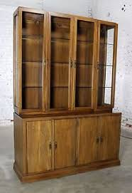 davis cabinet company lighted display cabinet china hutch vintage