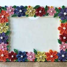 How To Create A Colorful Floral Photo Frame Diy Crafts Tutorial With Regard Make Handmade Frames Paper Step By