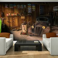 details zu vlies fototapete oldtimer auto garage käfer wohnzimmer retro route 66