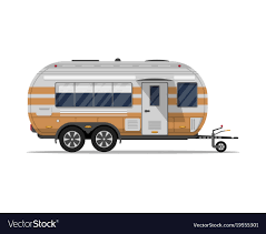 100 Modern Travel Trailer Big Modern Travel Trailer Isolated Icon Royalty Free Vector