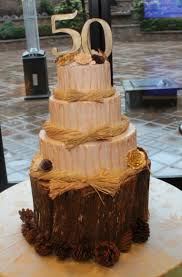 Rustic Cake For 50th Wedding Anniversary