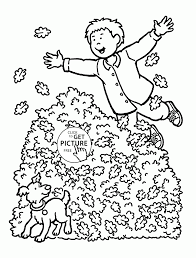 Pumpkin Patch Coloring Pages by Funny Autumn Day Coloring Pages For Kids Fall Leaves Printables
