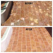 mexican pavers before after images seal systems