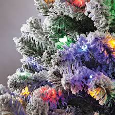 4 Ft Color Changing Flocked Tree By NorthwoodsTM 364660
