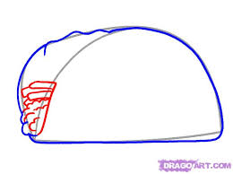 how to draw a taco step 3