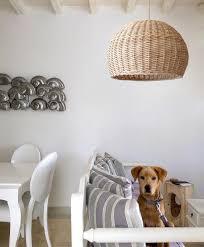 rattan korb licht bambus deckenleuchte holz kronleuchter wicker bauernhaus gewebt rustikale anhänger beleuchtung home decor
