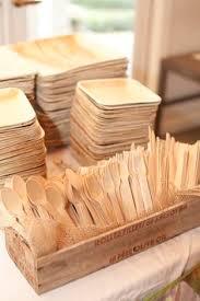 Bamboo Plates Rustic Wedding