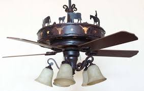 Mica Lamp Company Ceiling Fans by Copper Canyon Longhorn Ceiling Fan Rustic Lighting And Fans