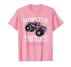 Amazon.com: Monster Trucks Girls Rule T-shirt: Clothing