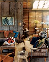 Small Spaces Rustic Living Room Design With Wood Wall Old And