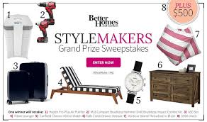 Better Homes & Gardens Stylemakers Sweepstakes