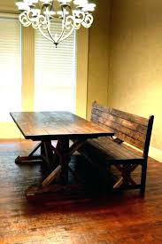 Dining Room Bench Dimensions With Back Wood For Table Bac