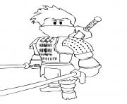 Printable Roblox Ninja Coloring Pages