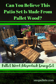 Pallet Adirondack Chair Plans by Fantastic Pallet Adirondack Chairs Patio Set U2022 1001 Pallets