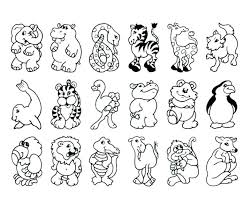 Wild Animal Coloring Pages For Kids Animals Children Zoo In