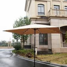 Solar Lighted Patio Umbrella by Rectangular Umbrella With Solar Lighted