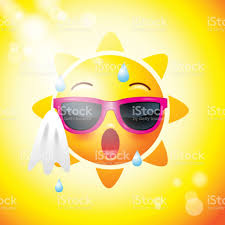 Sun Face Icons Or Yellow Funny Faces In Realistic Emojis Hot Summer