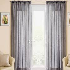 Crushed Voile Curtains Uk by Voile Curtains Grey Amazon Co Uk