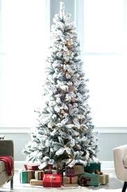 7 Ft Flocked Christmas Tree Pencil Trees Lit Artificial Best Fake Classic Slim Cashmere