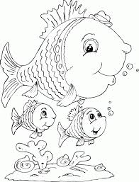Fish Family Coloring Pages Category Animal