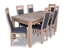 esstisch garnitur tisch 6x stühle stuhl esszimmer garnitur tisch holz textil