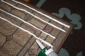 hold it right there a rug stay put with caulk practice