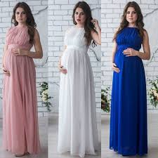 1499 Pregnant Women Maxi Gown Maternity Dress Wedding Party