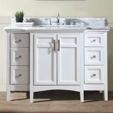 46 Inch White Bathroom Vanity by 48 Inch Bathroom Vanities You U0027ll Love Wayfair