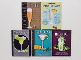 deco cocktail recipes tiki pub novelty gift set road knights